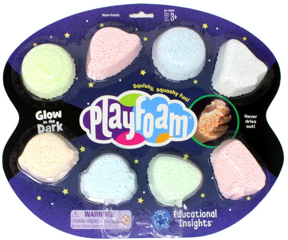 PlayFoam® modelína - Svítící (Glow in the Dark) 8 boulí